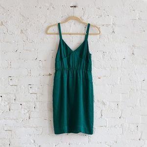 Green silk J. Crew cocktail dress